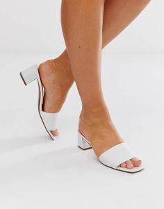 Mules Shoes, Heeled Mules, Asos, Black Mules, Pop Fashion, Fashion Trends, Sexy Toes, White Style, Fashion Online