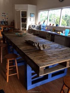 This long pallet wood made table is purely formed for the dining purpose. You…