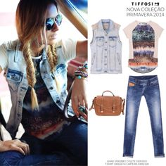 TIFFOSI - Nova Coleção Primavera 2014 #tiffosi #tiffosidenim #newcollection #novacoleção #denim #primavera #spring #newin #woman  Jeans - http://bitly.com/1e5r9WU Colete - http://bit.ly/1kAwr44 T-shirt - http://bit.ly/1otRhzv Carteira - http://bit.ly/P4g6b1
