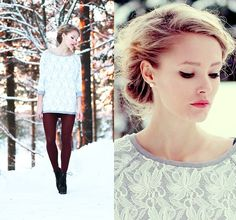 Lace (by Petra Karlsson) http://lookbook.nu/look/4457289-Lace