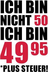 50. Geburtstagsshirt: Ich Bin Nicht 50