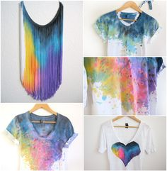 Tie dye, ice tie dye, tye dye, how to dye fabric, painted clothes Ice Tie Dye, How To Tie Dye, How To Dye Fabric, Tye Dye, Diy Clothes Refashion, Diy Clothing, Tie Dye Crafts, Bleach Tie Dye, Tie Dye Techniques