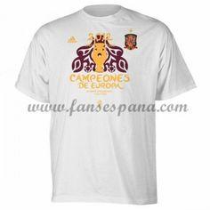 Camisetas De Futbol Barata España UEFA Euro 2012 Champions T-Shirt White