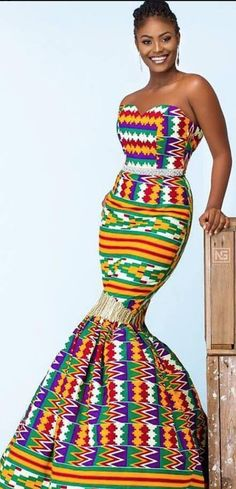 New Kente Designs For 2019 - Sisi Couture African Inspired Fashion, African Dresses For Women, African Print Dresses, African Print Fashion, African Attire, African Wear, African Fashion Dresses, African Women, African Clothes