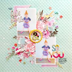 Awesome & So You by @paigeevans #scrapbooking #pinkpaislee @pinkpaislee                                                                                                                                                                                 More