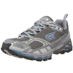 The North Face Women`s Devils Thumb Trail Running Shoe,Grey/Blue,5 M US