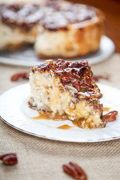 Pecan Pie Cheesecake   TheBestDessertRecipes.com