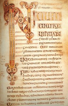 Beautiful example of the the Insular script. The Book of Durrow, Ireland, 7th century