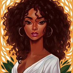 Portrait of by Bofenglin Black women's art! – Portrait of from Bofenglin Black Art Painting, Black Artwork, Woman Painting, Black Love Art, Black Girl Art, Black Girls Drawing, Drawing Women, Natural Hair Art, Natural Hair Styles