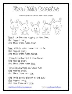 Five Little Bunnies Shared Reading and Finger Puppets.pdf