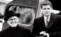 Joe Kennedy with his eldest child, Joe Jr., before his son's death.( circa 1940)