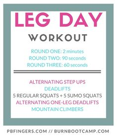 Leg Workout from Burn Boot Camp