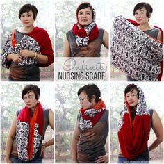 sew: Infinity Nursing Scarf || Hideous! Dreadful! Stinky!
