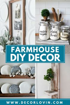 DIY farmhouse decor projects that are cheap and easy! Give these projects a try this weekend. Start making your house look like a home. #cheaphomedecor