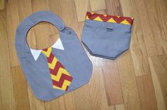 Harry Potter Gryffindor Bib and Snack Bag Set  by DevotedDragonfly