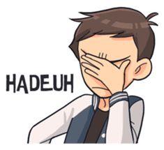 Si Tengil by Gangsar Emo Cartoons, Cute Love Cartoons, Cartoon Jokes, Cartoon Pics, Funny Text Memes, Funny Friend Memes, Funny Texts, Funny Jokes, Emoji People