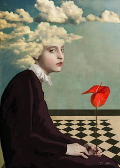 Loneliness of an anthurium -Daria Petrilli-