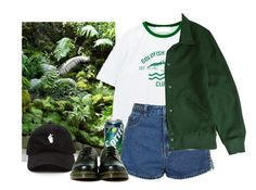 """""""grow"""" by paper-freckles ❤ liked on Polyvore featuring Chicnova Fashion, Topshop, Brixton and Dr. Martens"""