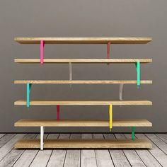 Elia Maurizi and Francesco Pepa ikea hack book shelf colored brackets