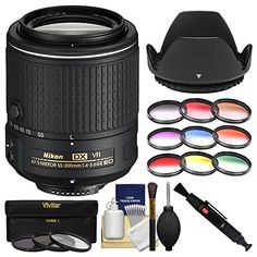 Introducing Nikon 55200mm f456G VR II DX AFS ED ZoomNikkor Lens with 3 UVCPLND8  9 Graduated Filters  Hood  Kit. Great Product and follow us to get more updates!