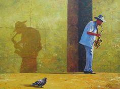 Душевные картины Игоря Ропяника -   Есть картины гиперреалистичные, но мертвые, а есть примитивные акварельки, но дышащие каждым своим мазком. Работы Игоря Ропяника показались мне именно живыми. Синички, снегири, голуби - малые вкрапления большого мира, напомина