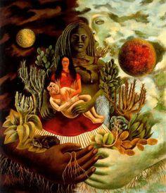 El Abrazo de Amor del Universo, la Tierra. Frida Kahlo