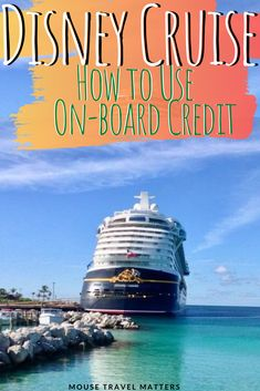 Onboard credit (OBC) is basically free money that you get to spend during the course of your cruise vacation. We explain how it works. Disney World Vacation Planning, Disney Cruise Tips, Best Cruise, Family Vacation Destinations, Disney World Resorts, Disney Vacations, Walt Disney World, Disney Planning, Family Vacations