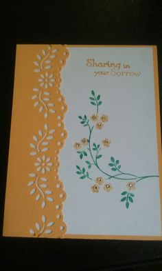 Martha Stewart punch stampin Up thoughts and prayers stamp set