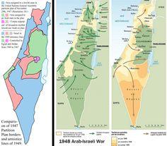 ¿Cómo la guerra árabe-israelí de 1948 ayudó a conducir a las fronteras de Israel