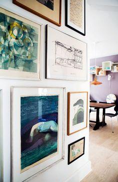 Makeover: 2 fantastiske forvandlinger - Boligliv Room Inspiration, Interior Inspiration, Wall Decor, Room Decor, Beautiful Interior Design, Print Artist, Photo Displays, Home Decor Items, Decorating Your Home