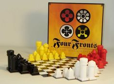 Provides hours of entertainment for the holidays and what a great unique gift for the chess fanatics!  Ships FREE Ground from The Game Supply - Four Fronts - Specialty Chess Set, $42.95 (http://www.thegamesupply.com/four-fronts-specialty-chess-set/) #familyboardgames
