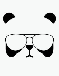 7cd65e067189 graphicpassion  Panda with Aviators (Repost)Illustration T-Shirt Design