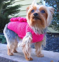 https://www.etsy.com/listing/126907052/dog-sweater-pink-dog-sweaterpunk?ref=shop_home_active_1 Tiny Pups Get Chilly Too But Still Want To Dress Sassy