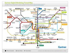 The Gartner Digital route map... interesting stations and locations