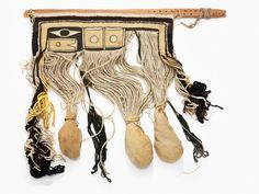 Unfinished 19th century chilkat weaving