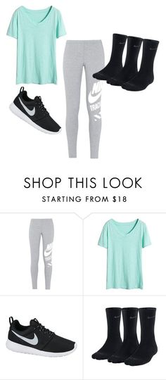 """Skyzone Outfit"" by mayaleigh1 ❤ liked on Polyvore featuring NIKE"