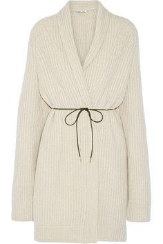 Helmut Lang   Oversized belted wool-blend cardigan   NET-A-PORTER.COM