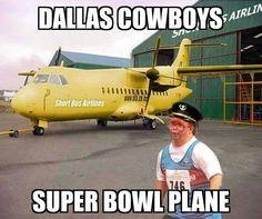 Pilot of the short bus plane Dallas Cowboys Memes, Dallas Cowboys Football, Funny Nfl, Hilarious, Cowgirl Images, Short Bus, Kansas City Chiefs Football, Funny Quotes, Funny Memes