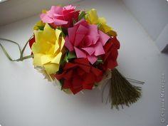 Кусудама Мастер-класс День рождения Оригами кусудама Розочка+МК Бумага фото 1