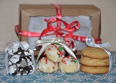 Holiday Cookie Box Assorted Christmas Gift 18 Chocolate Snickerdoodle by PetitCookieShop on Etsy
