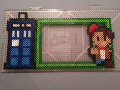 Doctor Who Perler Bead Magnetic Frame by AshMoonDesigns on deviantART