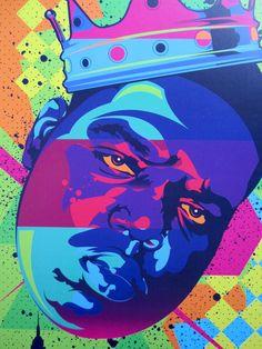 Notorious B.I.G. King Biggie Digital Art by taylorlindgrenart, $20.00
