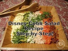 #Disney #Recipe: Cobb Salad from Hollywood Brown Derby! Step by step recipe with pictures!