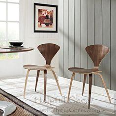 Vortex Walnut Stacking Chair