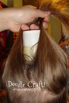 Doodle Craft...: Cindy Lou Who...hairdo! Hey, I know someone who needs to do this!  Grinch Day!