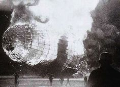 The Hindenburg disaster, Thursday, May 6, 1937.