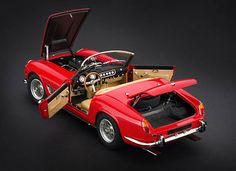 CMC Models 1961 Ferrari 250 GT SWB California Spyder Red Diecast Car Model CMC091