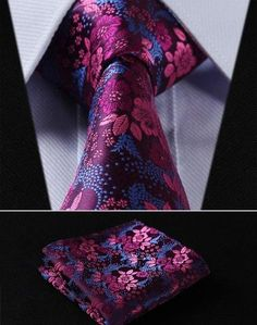 """This setis handmade from 100% silk. The tie measures 3.4"""" at its widest point.  Includes: Tie and Pocket Square 100% SILK Dry Clean Only"""
