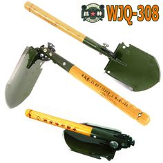 2016 chinese military shovel folding portable shovel WJQ-308 18 multi functions shovel camping hunting hiking outdoor shovel ** You can get additional details at the image link.
