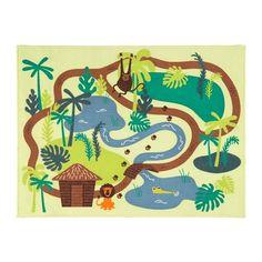 DJUNGELSKOG Vloerkleed, laagpolig, jungle, bomen jungle/bomen 133x100 cm